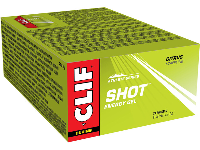 CLIF Bar Gel Box 24 x 34g citrus